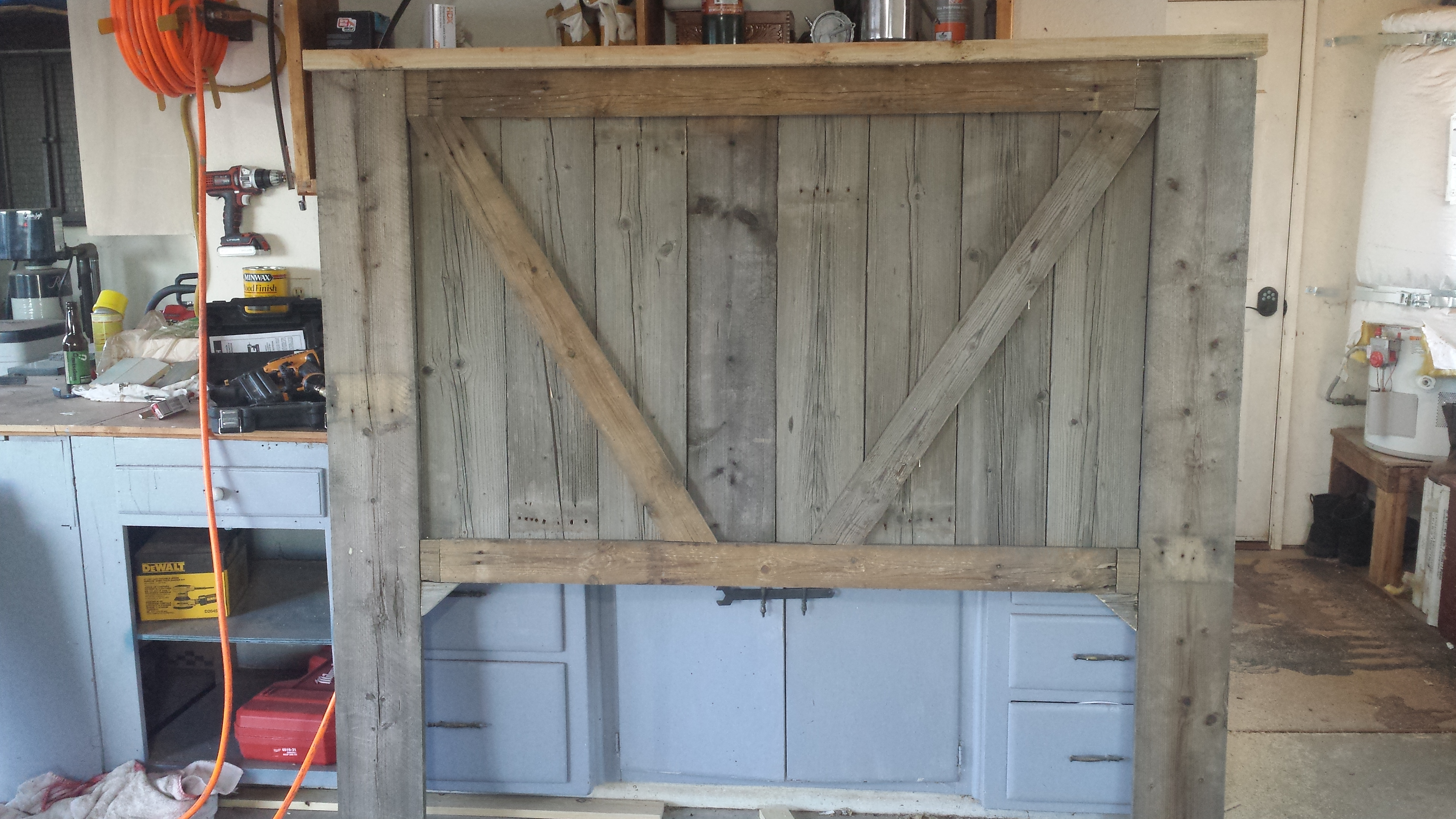 projects wood ana king reclaimed home diy headboard white wooden size cal